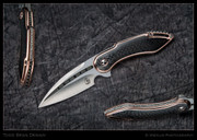 Todd Begg - Mini-Glimpse Fixed Blade Copper and CF
