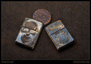 Steel Flame - Zippo - Etched Ghost Darkness