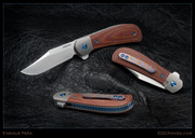 Peña - Lanny's Clip Flipper - Brown Micarta with Timascus