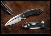 Begg - STEELCRAFT MINI GLIMPSE – SILVER - CARBON FIBER INLAY