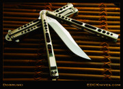 "Dobruski Balisong - 5"" Bowie - Mirror Polished Ti - CB80"