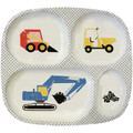 Construction 4-compartment toddler plate