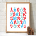 Monkey Caboose Alphabet Print - Various Colours