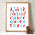 Monkey Caboose Alphabet Print - Various Colours