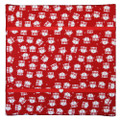 Monkey Caboose Memo / Hairclip Board - Mini Red Owls