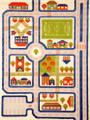 IVI Play Rug - Traffic Blue