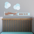 Trendy Peas Fabric Wall Decal - Modern Airplane