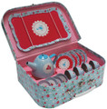 Tiger Tribe Vintage Tin Tea Set - Bluebird