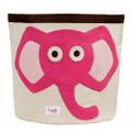 3 Sprouts Storage Bin - Elephant Pink