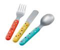 Jungle Farm Dotty 3-piece toddler cutlery set