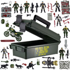 55 Piece Jumbo Action Force Set - Army