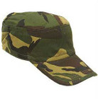 Kids Military Drill Cap - Woodland Camo