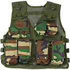 Kids Camouflage Combat Vest - Woodland - Front