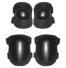 Kids Black Tactical Elbow and Knee Pads - Front