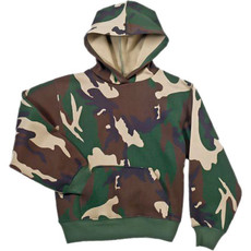 Kids Hooded Sweatshirt Camo