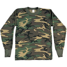 Woodland Camo Long Sleeved T-Shirt
