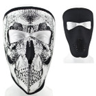 Reversible Neoprene Facemask - Black and Skull