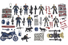 55 Piece Action Figure Set - Police