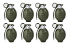 Toy Hand Grenades - BULK Set of 8