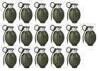 Toy Hand Grenades - BULK Set of 16