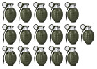 Toy Hand Grenades - BULK Set of 16