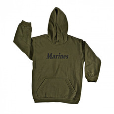 Kids Hooded Sweatshirt - Marine Insignia