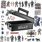 55 Piece Jumbo Action Force Set - SWAT