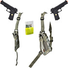 ACU Digital Double-Draw Shoulder Holster &amp; 45 Caliber Double Eagle Airsoft Pistols Combo