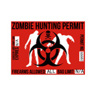 Zombie Hunting Permit - Biohazard Decal Sticker