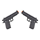Beretta-Style Spring Airsoft Pistols - Set of Two