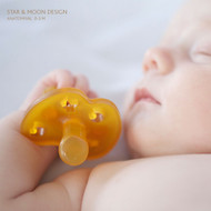 Hevea (Natural Rubber) Baby Soother Pacifier Dummy - Star and Moon ** Choose Size**