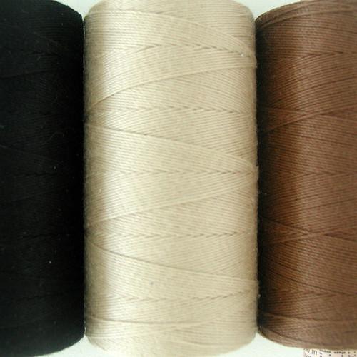 Thread used for creating custom handmade wefts