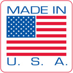 Made in USA (Red border shown is not on actual label)