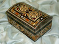 Fabulous Cute Handmade Mosaic Bombe Shape Box Jewelry with Lock and Key hold