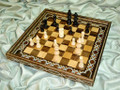 Handmade Chess Set Mosaic Chess Board with Edge and Chessmen