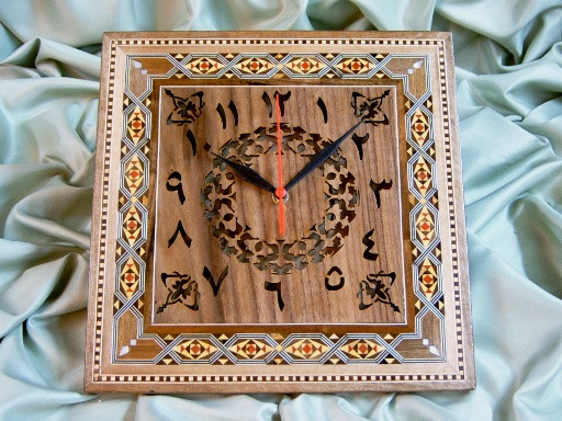 Fancy Decoration in Square Shape Mosaic Art Decor Wall Clock ...