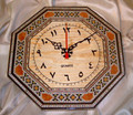 Unique Handmade Mosaic Wall Clock With Arabic Numbers Octagonal Shape Gift Idea