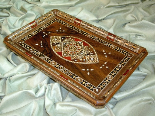 Unusual handmade mosaic serving tray as an new home gift idea Unusual new home gifts
