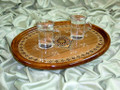 High Quality Handmade Mosaic with Real Mother of Pearl Serving Tray Gift Idea
