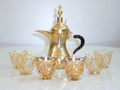 Elegant Handmade Coffee Set (Coffee Pot, Cups, Cups Holder)