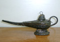 Large Old Coins Finish Collecatble Aladin Oil Lamp