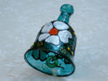 Wonderful Unique Handmade Painted Glass Christmas Bell.