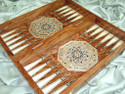 mother of pearl backgammon set
