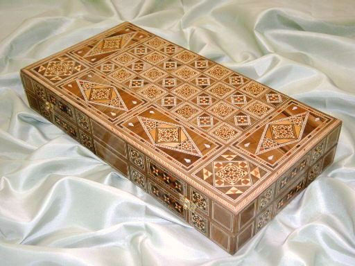 mosaic backgammon board