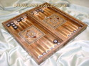 wood mosaic backgammon boards