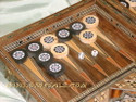 handmade wood mosaic backgammon boards