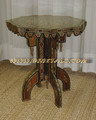 Quality Mosaic Flower Shape Table with Mother of Pearl