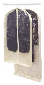 Fabric Garment Bag with Window - Set of 2