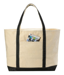 "Handy Laundry 22"" Heavy Duty Natural Canvas Tote Beach Bag (Zippered) 12oz Cotton Eco Friendly Handbag"