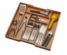 Bamboo Kitchen Drawer Organizer 3